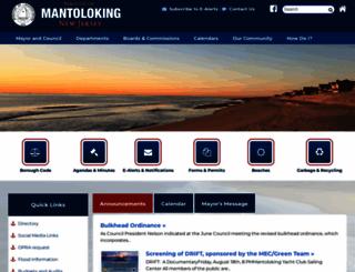 mantoloking.org screenshot