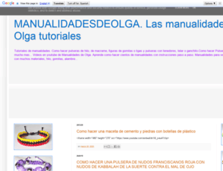manualidadesdeolga.es screenshot