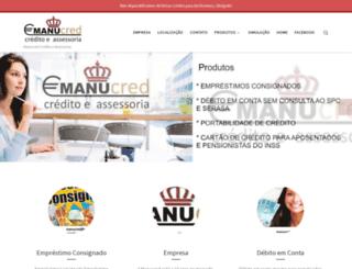 manucred.com.br screenshot