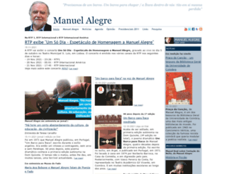 manuelalegre.com screenshot