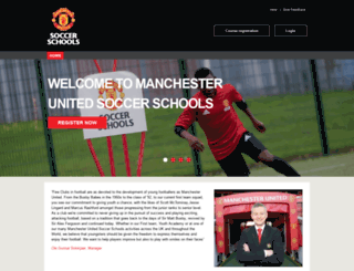 manutdsoccerschools.com screenshot