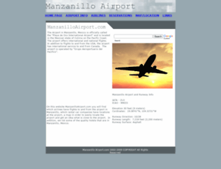 manzanilloairport.com screenshot