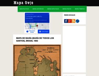 mapas.owje.com screenshot