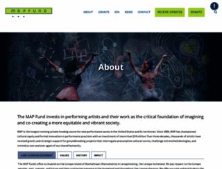 mapfund.org screenshot