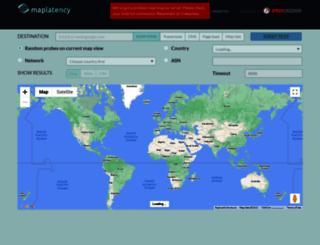 maplatency.com screenshot