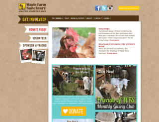 maplefarmsanctuary.org screenshot