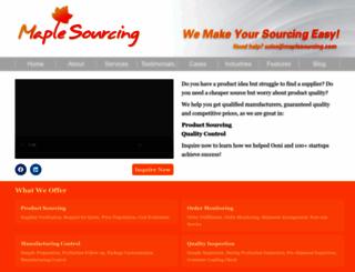 maplesourcing.com screenshot