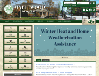 maplewoodnj.org screenshot