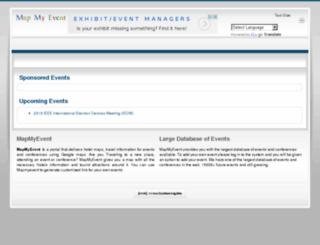 mapmyevent.com screenshot