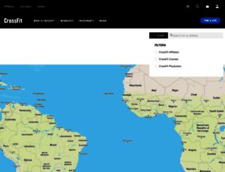 maps.crossfit.com screenshot