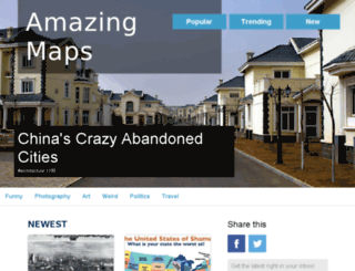 mapsareamazing.com screenshot
