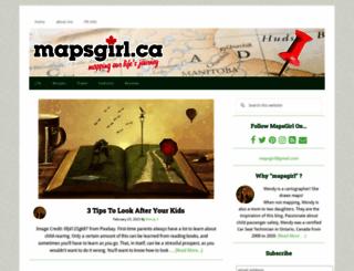 mapsgirl.ca screenshot