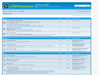 maquettes-papier.net screenshot