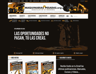 maquinariaspesadas.org screenshot