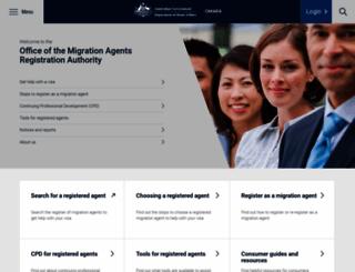 mara.gov.au screenshot