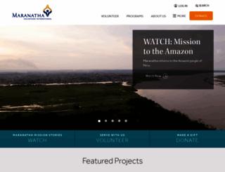 maranatha.org screenshot