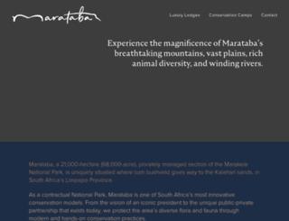 marataba.co.za screenshot