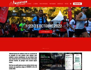 marathon-des-villages.com screenshot