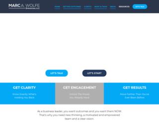marcawolfe.com screenshot