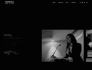 marceladevivo.com screenshot
