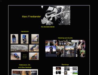 marcfriedlander.com screenshot