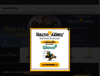 marcoaldany.com screenshot