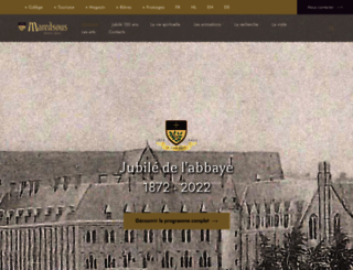 maredsous.be screenshot