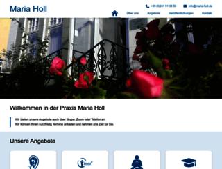 maria-holl.de screenshot