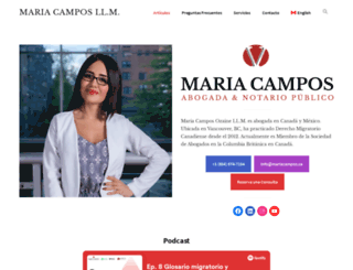 mariacampos.ca screenshot