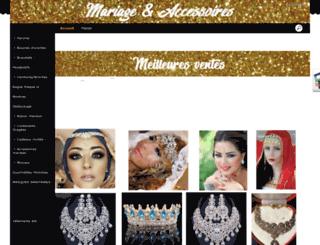 mariageaccessoire.com screenshot