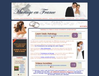 mariageenfrance.net screenshot