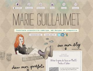 marieguillaumet.com screenshot