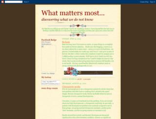 mariellewhatmattersmost.blogspot.com screenshot