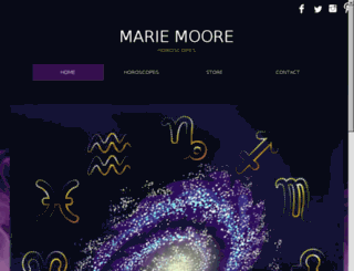 mariemoorehoroscopes.com screenshot