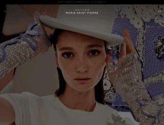 mariesaintpierre.com screenshot