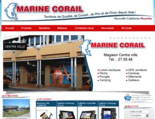 marine-corail.nc screenshot