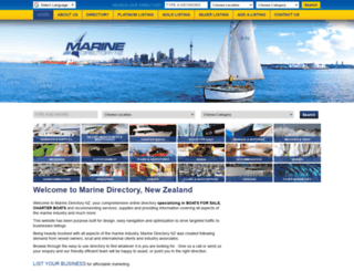 marinedirectorynz.com screenshot