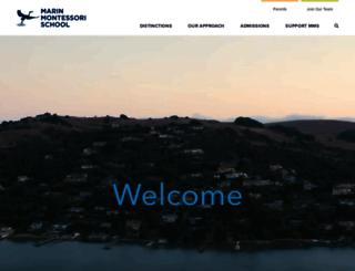 marinmontessori.org screenshot