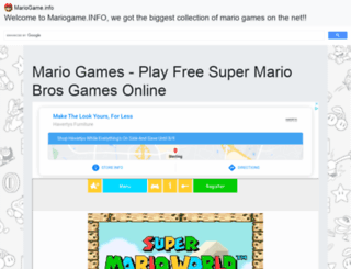 mariogame.info screenshot