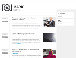 mariophotographe.com screenshot