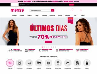 marisa.com.br screenshot