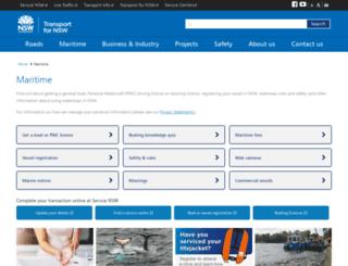 maritime.nsw.gov.au screenshot