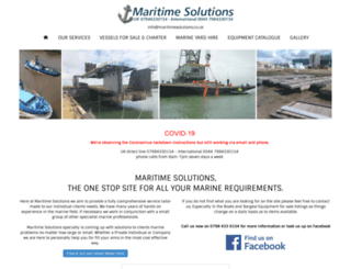maritimesolutions.co.uk screenshot