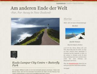 marius.auslandsblog.de screenshot