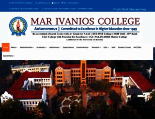 marivanioscollege.ac.in screenshot