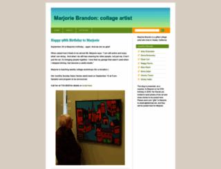 marjoriebrandon.wordpress.com screenshot