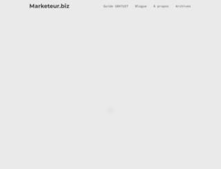 marketeur.biz screenshot