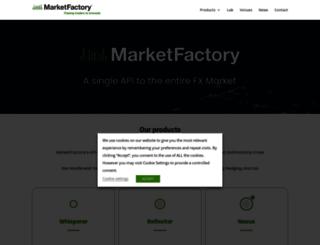 marketfactory.com screenshot