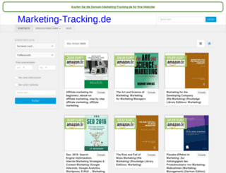 marketing-tracking.de screenshot