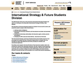 marketing.anu.edu.au screenshot